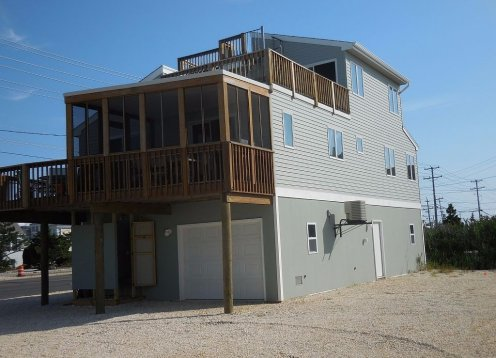 Brant Beach One House from Bay on Short Block to Beach