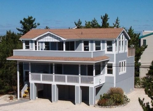 Harvey Cedars Ocean, Bay and Cove View Home 2d from Ocean