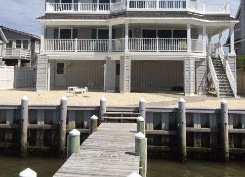 Bayfront Duplex on LBI with 50' Dock and Boat Slip