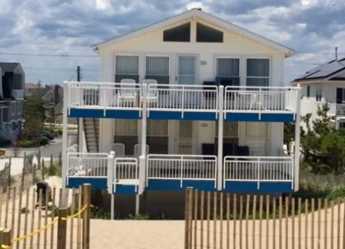 Beautiful Ocean Front Duplex North Beach one house on property, LBI