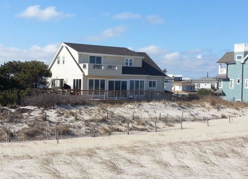 Oceanfront Brant Beach 75 feet on the water with Panoramic Ocean View
