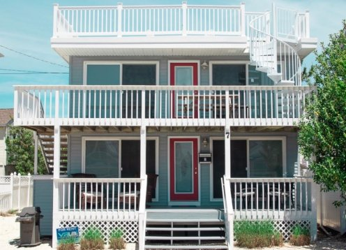LBI  Brant Beach, NJ - Oceanside - 5 Houses from Beach