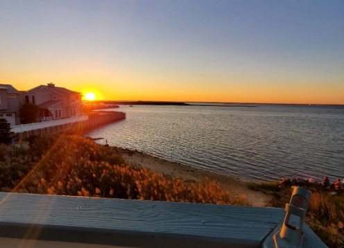 BRAND NEW BAYFRONT LISTING with PRIVATE BEACH on 5th St, Beach Haven!