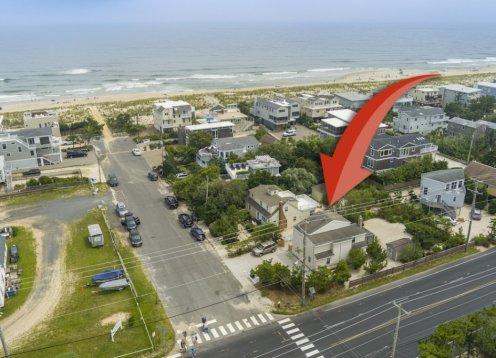 New to Market 4 Bedroom CapeCod located on oceanside Harvey Cedars.